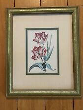 Tulip Flower Floral Botanical Wall Picture Gold Framed Art Print Tulips Pink