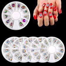 NEW 12pcs 3D Nail Art Rhinestones Alloy Glitter Crystal Gems DIY Tips Decoration