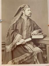 Antique Cabinet Card Photo 1880 Passion Play Christian Actors ~ Herod Archelaus