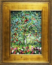 Gustav Klimt - Apfelbaum -102x82cm Ölgemälde Handgemalt Leinwand Rahmen Signiert