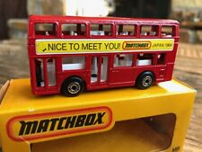 Matchbox Superfast #17 #7 Leyland London Bus NICE TO MEET YOU Japan 1984 Boxed