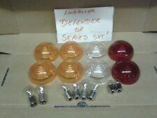 Landrover series/defender light lens replacement kit (new coloured lenses/bulbs)
