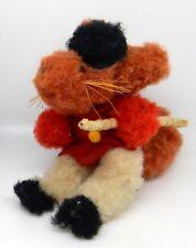 Adorable Vintage Equestrian Miniature Mohair Toy Fox