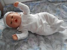 ens salopette 3p pour bébé naissance ou reborn,baigneur françois,nano,colin 48cm