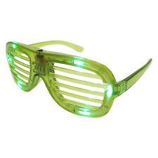 obturées Lunettes fête nuances Club Aviateur unisexe Style LED Diabolical Vert