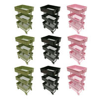 Pack of 9 1/12 3 Layer Storage Shelf Rack for Dollhouse Furniture Decor