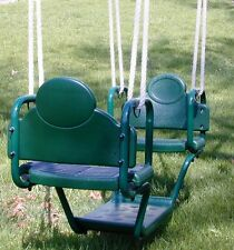 Swingset glider swing, face to face glider,playset,playground glider swing,Grn