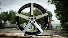 NEW (Set of 4) 19x8.5 SPEC-1 SP-10 rims 5x114.3 gloss black machined