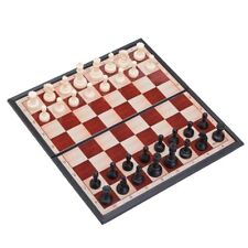 THY COLLECTIBLES Magnetic Portable Holding Travel Chess Set Classic Black &...