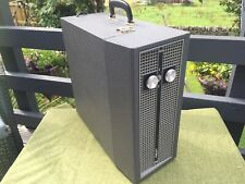 Retro Vintage GREY 'FIDELITY HF45' Portable RECORD PLAYER SERVICED & WORKING