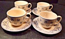 FOUR Johnson Brothers Laura Ashley Petite Fleur Tea Cup Saucer Sets 4 NICE!