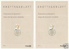 BRD 1997: Elisabeth Schwarzhaupt + Maria Probst! Ersttagsbl. Nr 1955+1956! 1511