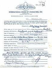 Toby Wing, Sergei Sikorsky & Herbert O. Fisher Signed Document With  COA
