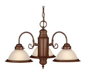 Savoy House 69-4254-BN, 3 Light Chandelier in Bronze Finish with Glass Globes