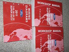 2011 Ford TRUCK F-250 F-350 F450 550 Service Shop Repair Manual Set DIESEL W EWD