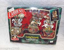 Mr Christmas Circus Animals Animated Carousel String Horses