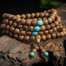 Mala Bangle Tibetan Buddhist Wenge Prayer Wood 6mm 108 Beads Buddhist Bracelet