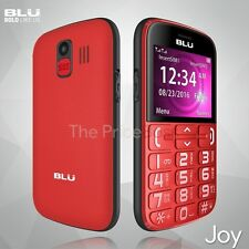 Unlocked Dual Sim Cell Red Phone with SOS Button -BLU JOY - GSM