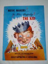 RARE 1952 Mattel Spring DEALER catalog BEAUTIFUL VERY NICE CONDITION ~TIN TOYS