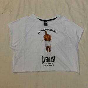RVCA ARTIST NETWORK PROGRAM Muhammad Ali Everlast White Shirt - Small