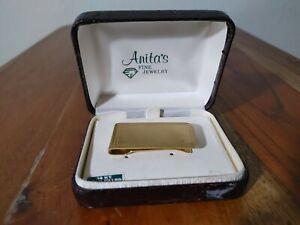 Vintage 14K Gold Filled Money Clip Original Jewelry Box New Very Nice!