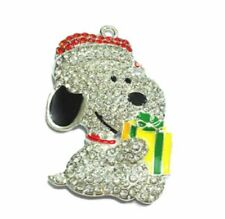 Charlie Brown Snoopy Character Rhinestone Metal Pendant Necklace