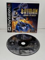 BATMAN GOTHAM CITY RACER AUTHENTIC SONY PLAYSTATION 1, 2001 VIDEO GAME, TESTED.