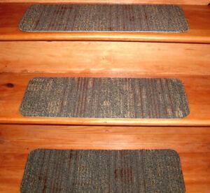 13 Step  9'' x 24'' Indoor Stair Treads  Staircase Step Rug  VP 0088.