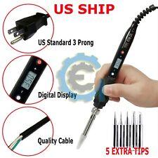80W Soldering Iron Digital LCD Electric Welding Tools Solder Wire Tweezers Hand