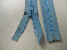 No 8 plastic teeth OPEN END zip 25cm BLUE @ $1.50 each Single tab locking slide