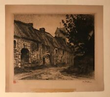 Roger-Maurice Grillon Etching, signed in pencil with artist's stamp
