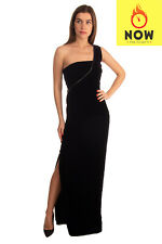 RRP €2660 TOM FORD Velour Maxi Ball Gown Size 38 / S Silk Lined Zip One Shoulder