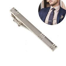 Necktie Tie Bar Clasp Pin Clip Gift Fashion Men Metal Alloy Formal Silver Simple