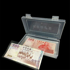 100x Paper Money Album Currency Banknote Case Storage Collection With Box Gift_F