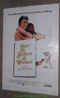 HOW TO SEDUCE A WOMAN  MOVIE POSTER Original 27x41 Folded One Sheet 1974 COMEDY