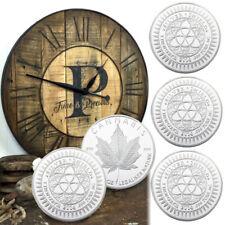 WR CANNABIS Queen Of Canada Silber Folil Plated Gedenkmünze Fünf Stück ein Set