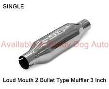 """SLP Bullet Type LOUD MOUTH 2 Muffler Stainless Steel 3"""" Inlet/Outlet 31067"""