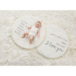 Mud Pie E1 Baby Nursery 36'' Dia Plush Word Play Mat 11000113 Choose Design