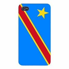 Democratic Republic of the Congo Flag FITS iPhone 4 4s Snap On Case Cover New