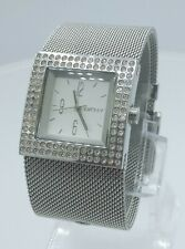 DKNY NY3404 ladies full steel time only watch diamonds inserts NY-3404 3 ATM