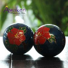 35mm Chinese Health Meditation Balls GIFT BOX Feng Shui Stress Balls w Chimes
