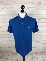 LACOSTE Polo Shirt - Size 4 Medium - Blue - Great Condition - Men's