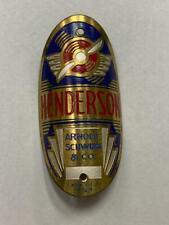 NOS vintage Schwinn HENDERSON bicycle Head Badge OVAL