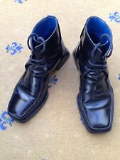 Oliver Sweeney Men's Black Leather Lace Up Boots UK 6 US 7 EU 40 Made in Italy