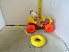Vintage Fisher Price Jalopy Pull Toy Car Truck Circus Clown #724 from 1965