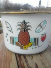 Georges Briard  Large  Enamel Covered  Mid Century Pineapple Ambrosia