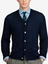 eafde3fd941140 NWT Polo Ralph Lauren Men s Sweater Cardigan- Ink Blue  Linen