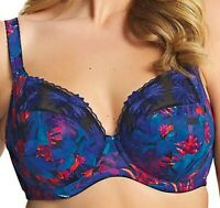 Elomi Moonlit Underwire Plunge Bra EL4130 UK Sizes DD-JJ Tropical Print NWT $69