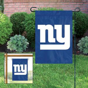 "2 New York Giants NFL Mini Flag Garden or Window 15"" x 10.5"" Window Hanger"