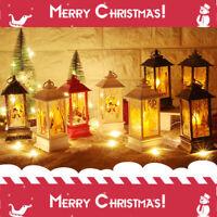 Weihnachtsbaum Hängelampe Weihnachtsmann Elch Schneemann LED Flamme Licht Dekor